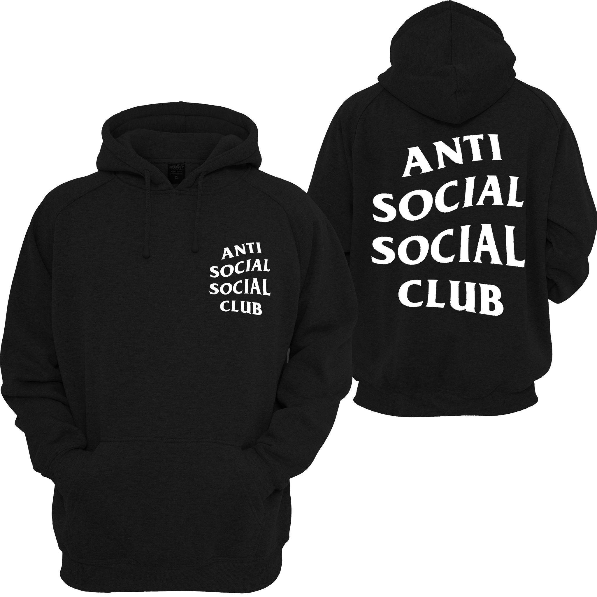 Anti Social Social Club Mind Games Hooded Sweatshirt Anti Social Social Club Hoodie Anti Social Social Club Anti Social
