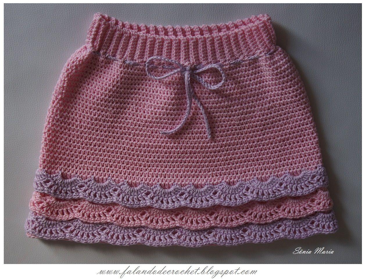 FALANDO DE CROCHET: SAIA DE CROCHE COM BABADOS | Crochet para bbs e ...