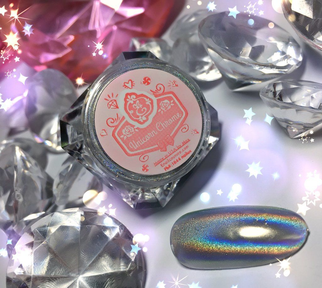 Unicorn Chrome~! magic hologram pigment use link through youtube ...