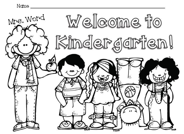 Welcome To Kindergarten Free Color Sheet Welcome To Kindergarten Kindergarten Colors Kindergarten First Day
