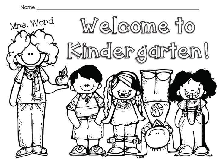 welcome to kindergarten free color sheet - Back To School Worksheets For Kindergarten