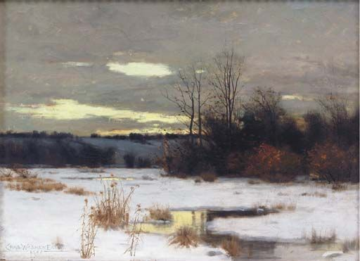 "Untitled (winter landscape), Charles Warren Eaton, oil on canvas, 16¼ x 22½"", private collection."
