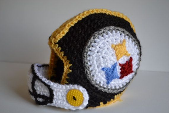 Custom Crochet Baby Football Helmet Steelers Baby Crochet Hats