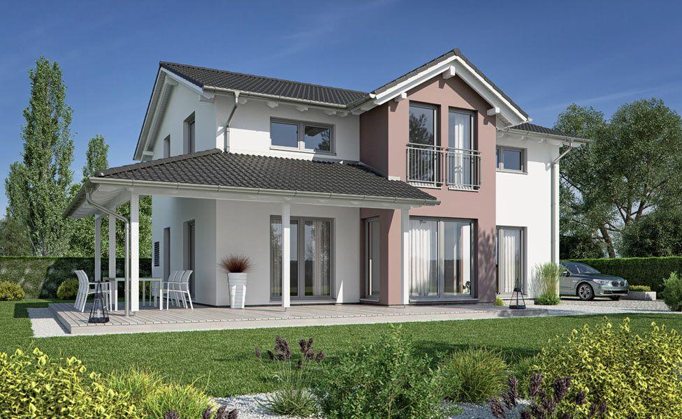 Haus satteldach modern terrasse wohn design for Modernes haus terrasse