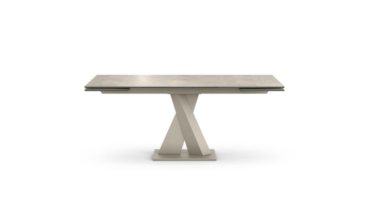 Dining Table With Composite Top In 10 Mm Thick Glass And 3 Mm