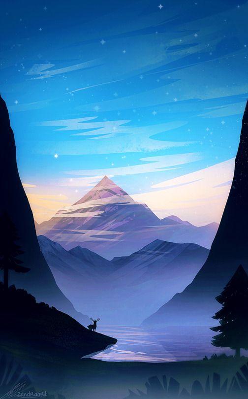 The Art Of Animation Fantasy Landscape Scenery Wallpaper Landscape Illustration Iphone nature drawing wallpaper