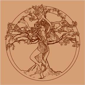 Tree Pose Womens Organic Clay Dyed Tshirt Artsy Tattoos Body