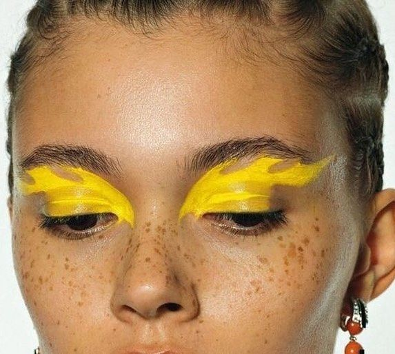 editorial flame makeup look