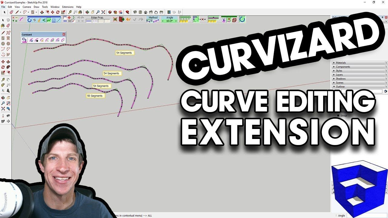 Editing And Simplifying Curves In Sketchup With Curvizard Curves