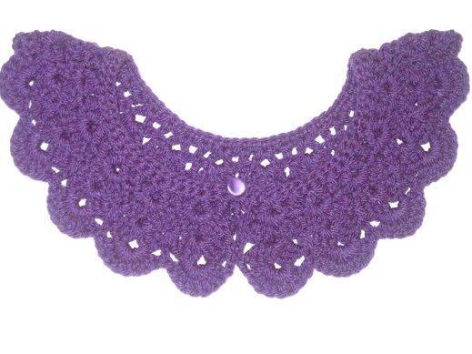 háčkovaný golierik (crochet)