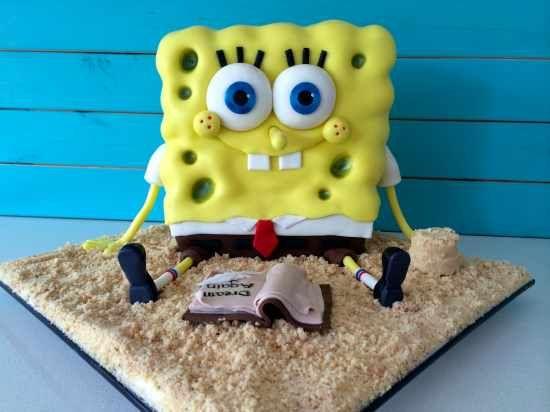 sponge bob cake video tutorial howtocookthat Cute Pinterest
