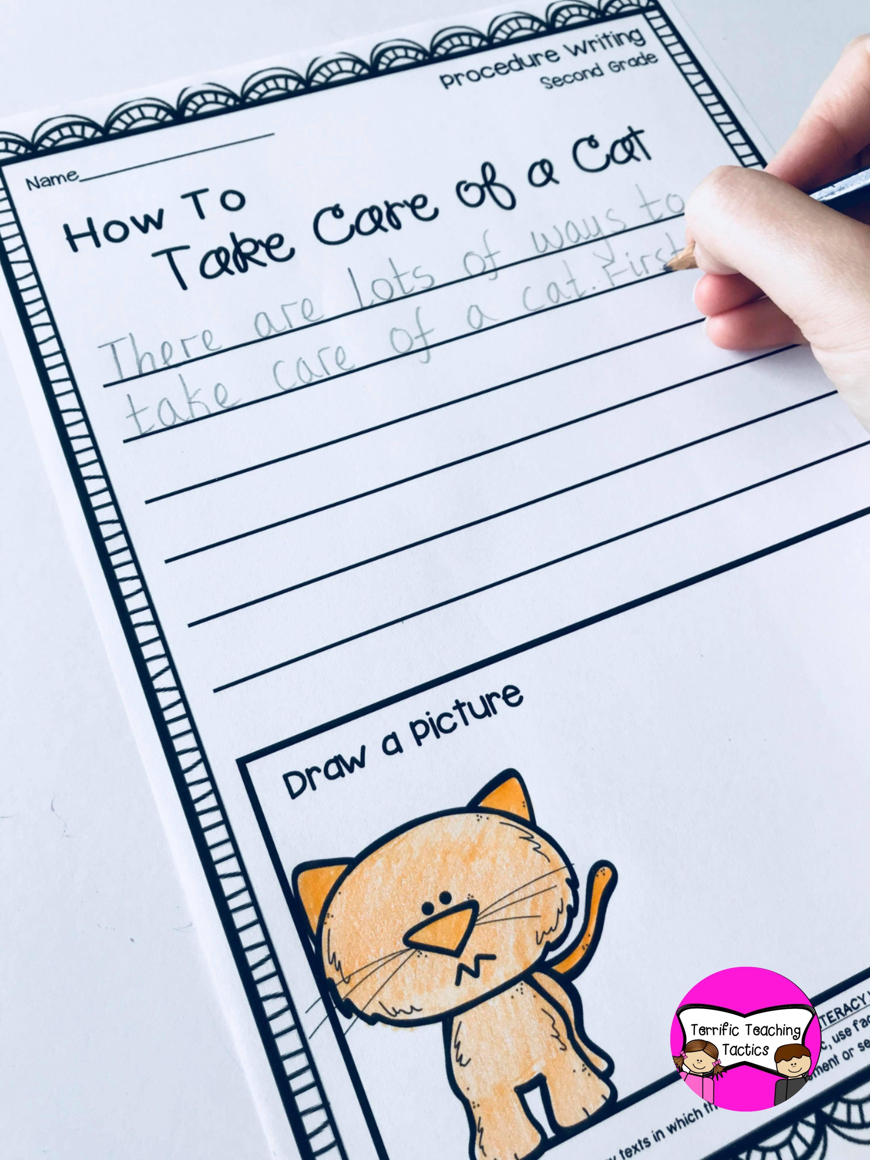 Second Grade Procedure Writing Prompts Worksheets