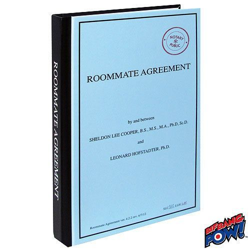 The Big Bang Theory Roommate Agreement Journal  Roommate