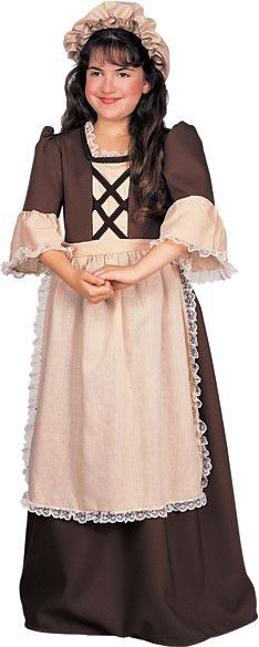 Girl's Costume: Colonial Girl-Large