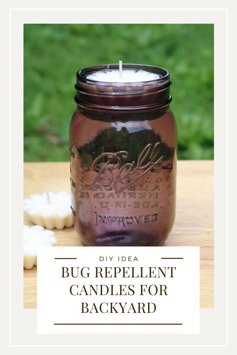 DIY Bug Repellent Floating Candles With Essential Oils in