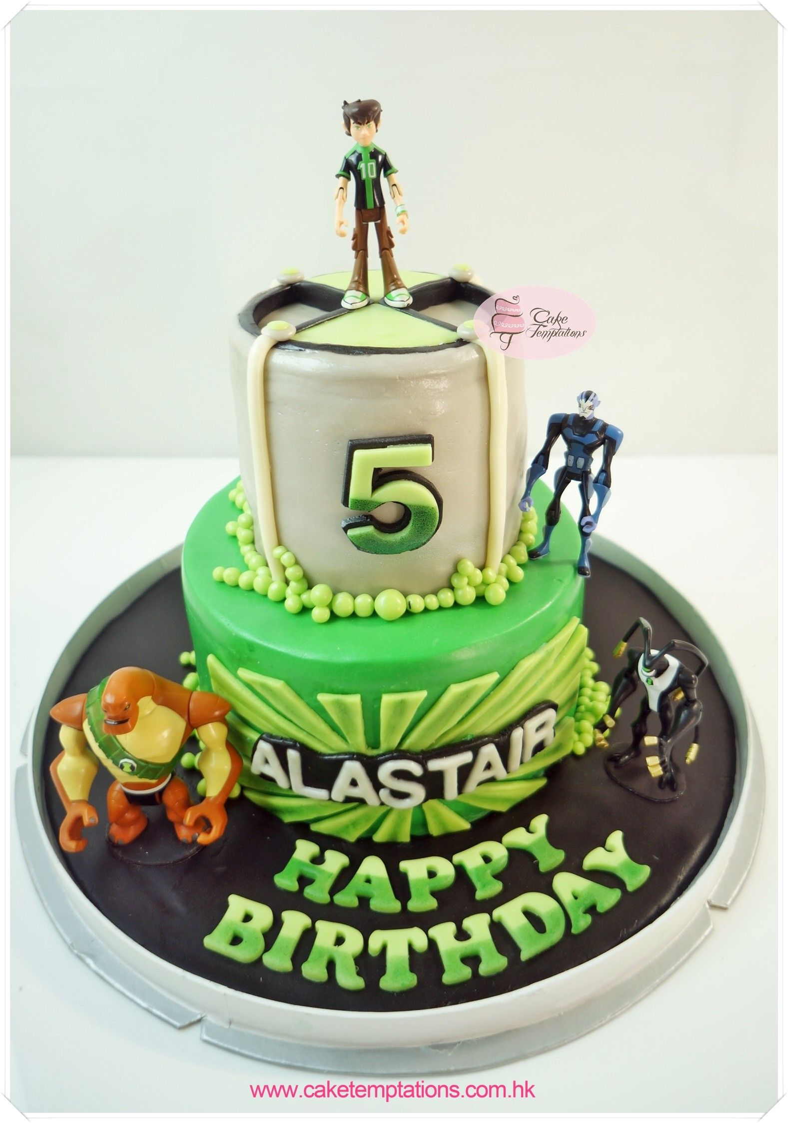 2 Layer Ben 10 Birthday Cake - 2 layer Cake - Multi layer ...