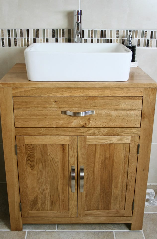 Oak Top Unit Ceramic Basin Choice 502cbc Ensuite In 2019 Vanity Units Traditional Vanity Units Bathroom Vanity Units