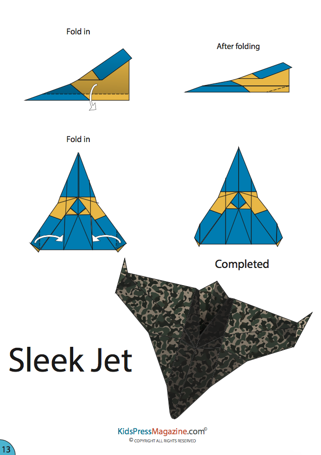 Step by how to make a cool paper airplanes