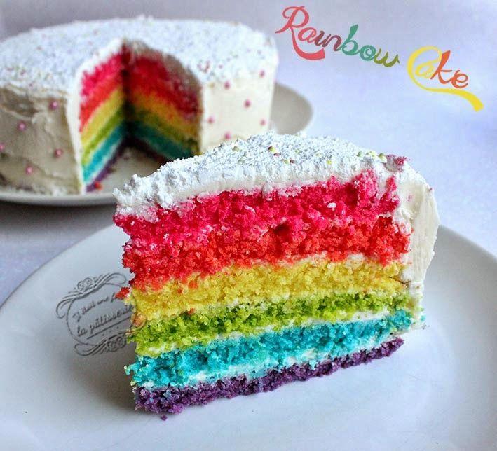 recette du rainbow cake ou g teau arc en ciel zesteur. Black Bedroom Furniture Sets. Home Design Ideas