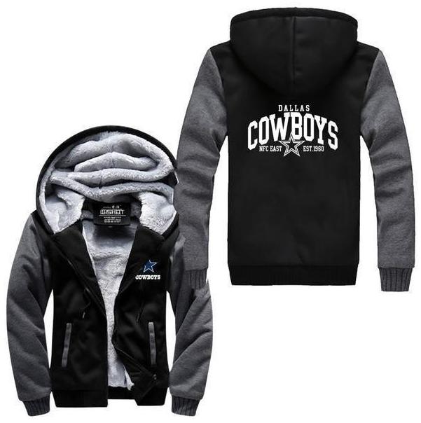best sneakers 9d896 da24d NFL DALLAS COWBOYS THICK FLEECE JACKET DALLAS COWBOYS FAN ...