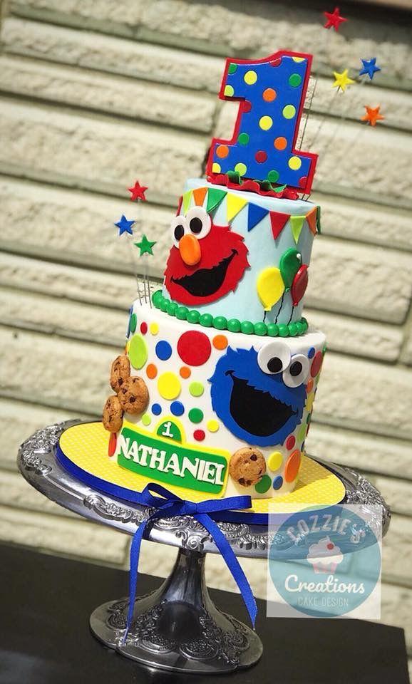 Awe Inspiring Sesame Street Cake Met Afbeeldingen Personalised Birthday Cards Sponlily Jamesorg