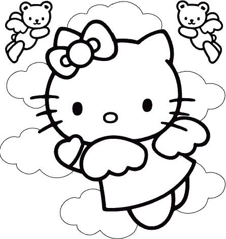 Disney Happy Christmas Hello Kitty Coloring Page   Holiday Ideas ...