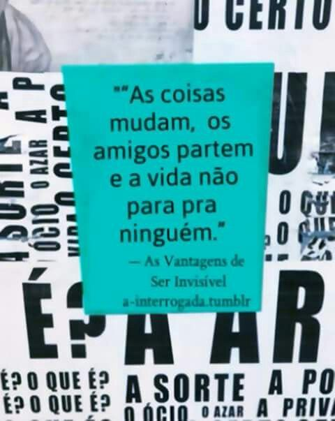 As Vantagens De Ser Invisivel Frases As Vantagens De Ser