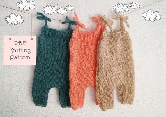 123 Pdf Knitting Pattern Baby Romper Newborn To 12 Months Knitting