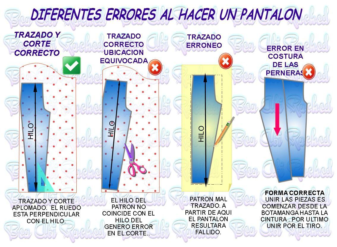 errores en la confeccion del pantalon | costuritas♥ | Costura ...