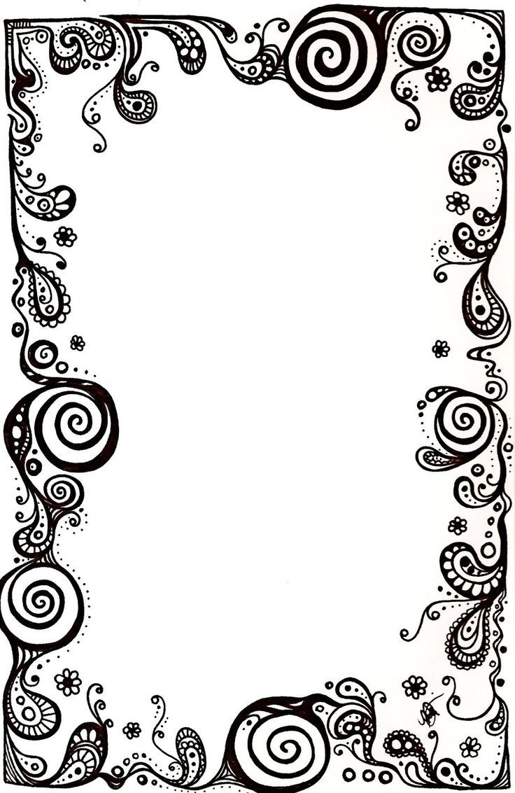 Image Result For Black And White Scroll Card Borders With Images