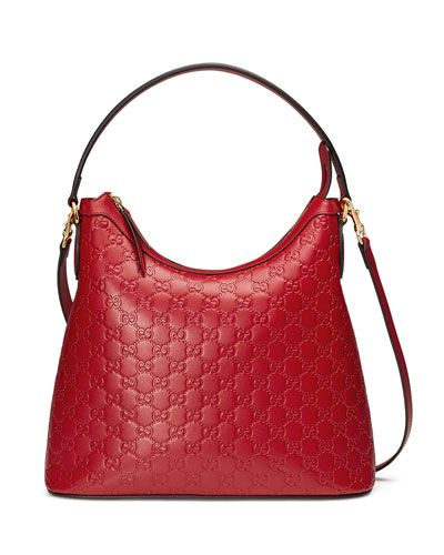 Gucci Guccissima leather hobo bag with golden hardware. Flat top ...