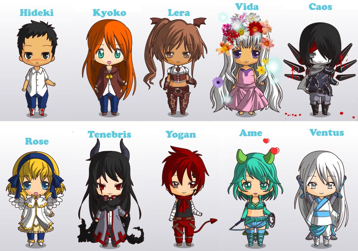 Personagens de uma historia feita no Skype :v