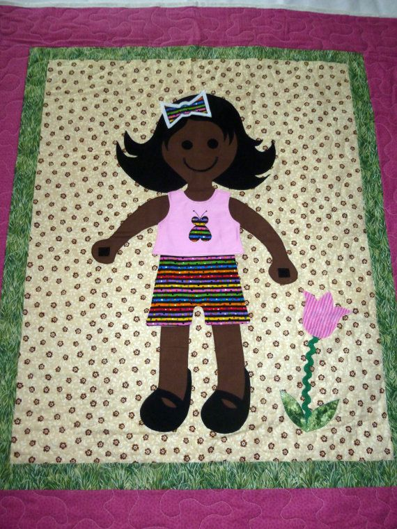 Dress Me Doll Quilt. Here is a sweet little doll quilt with dark ... : doll quilts for sale - Adamdwight.com