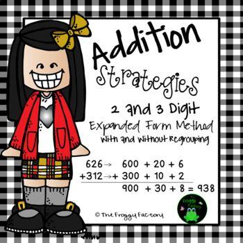 Addition Strategies Worksheets Expanded Form Bundle Addition