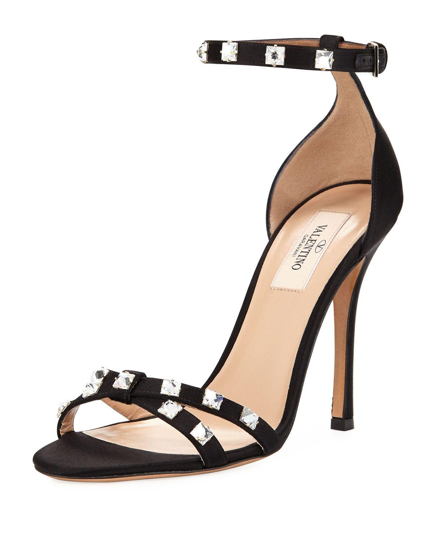 203fa066b3d Valentino Garavani Rockstud Glam Satin City Sandal