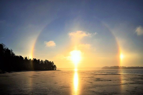 Halo-effect, Helsinki, Finnish Nature, December 2016