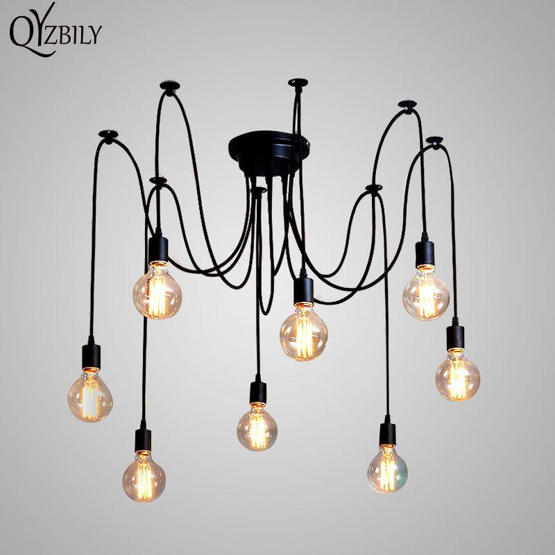 g nstige pendelleuchten l ster spinne anh nger lampe leuchte mehrere einstellbare retro hanglamp. Black Bedroom Furniture Sets. Home Design Ideas