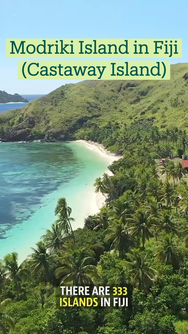 Modriki Island in Fiji (Castaway Island)
