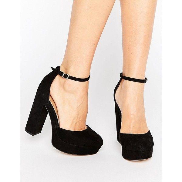 black block heel platform shoes