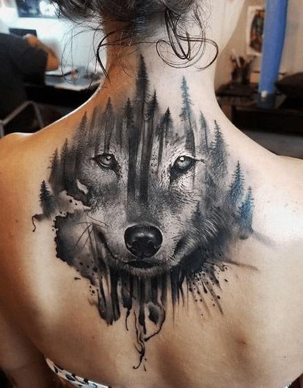 Wolf Tattoos For Girls Under Neck Tattoosonneck Tattoos On Neck
