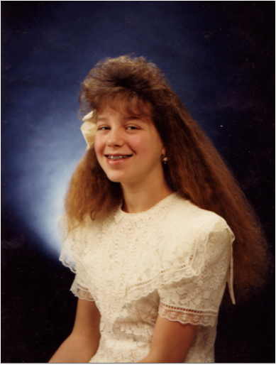 curled bangs in 80s 90s