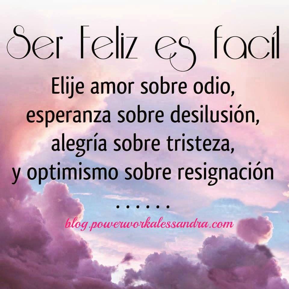 Elije amor sobre odio esperanza sobre desilusi³n alegra sobre tristeza y optimismo sobre resignaci³n Más