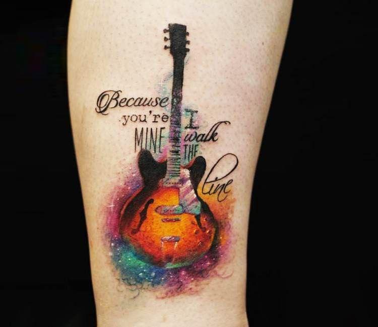 guitar tattoo by versus ink best tattoos pinterest guitar tattoo guitars and tattoo. Black Bedroom Furniture Sets. Home Design Ideas