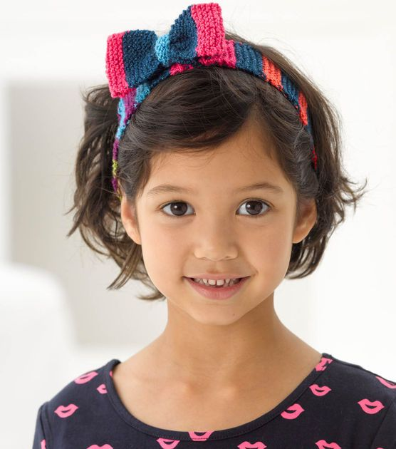 Cute Bonbons Knitted Headband With Bow Knit With Joann