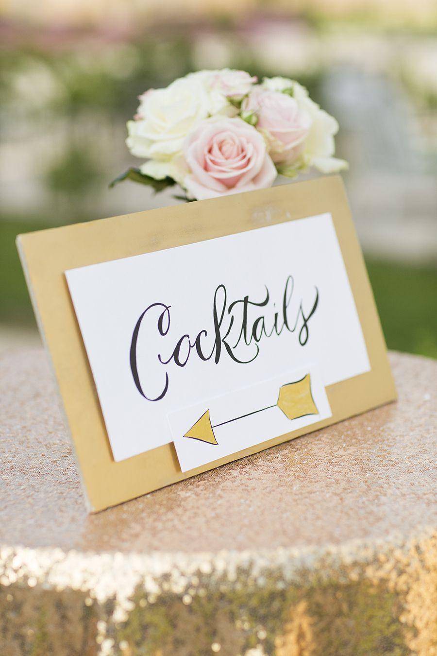 Modern Gatsby-Inspired French Wedding + Sparkly Gold Dress | Gold ...