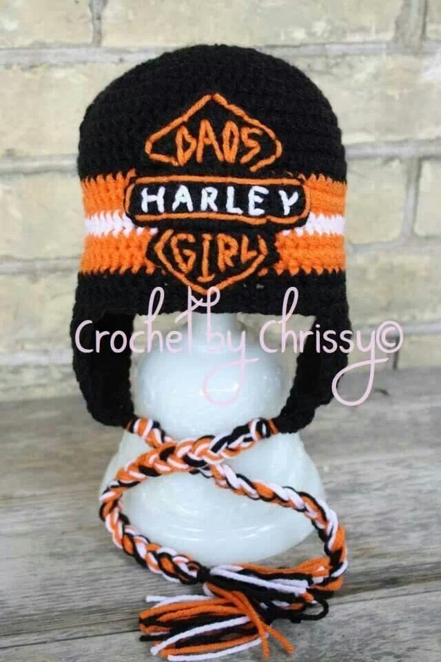 Dads Harley Girl Harley Davidson Crochet Hat Kids Characters