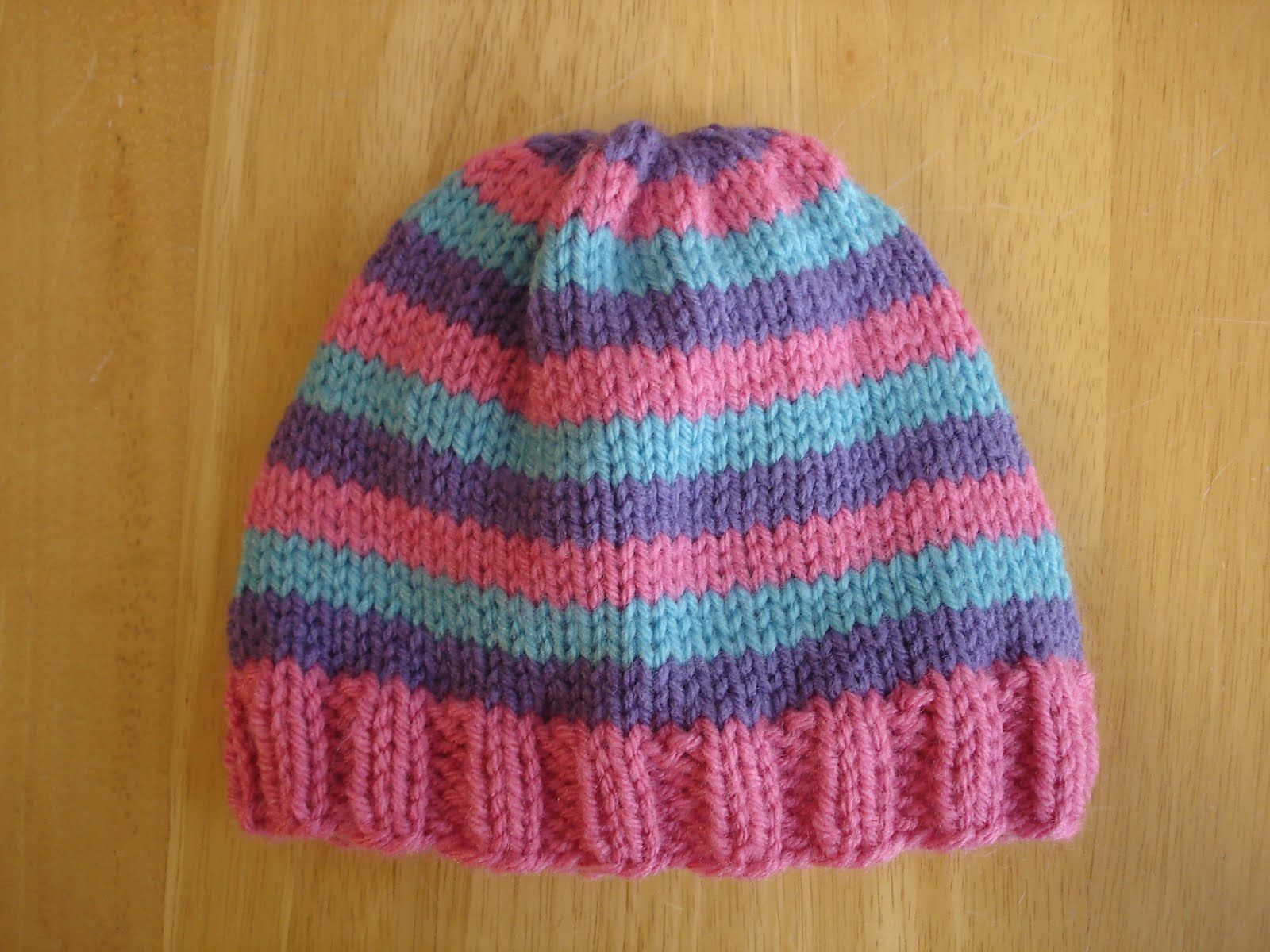 529ed4cfa6a Adventures in Stitching  Free Knitting Pattern...Super Pink Toddler Hat!