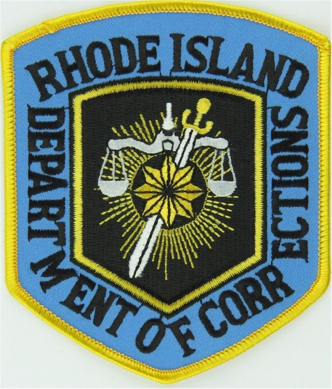 Usa Rhode Island Department Of Corrections Arm Badge Embroidered Overseas Police Prison Or Corrections Insignia Police Department Of Corrections Insignia