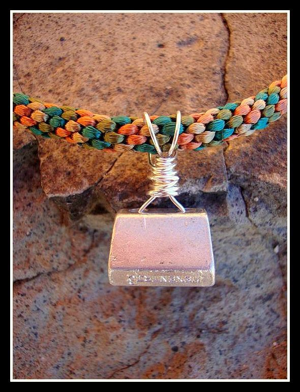 Rock Climber Necklace - Climbing Stopper Necklace Made with Kumihimo Braid. $40.00, via Etsy.