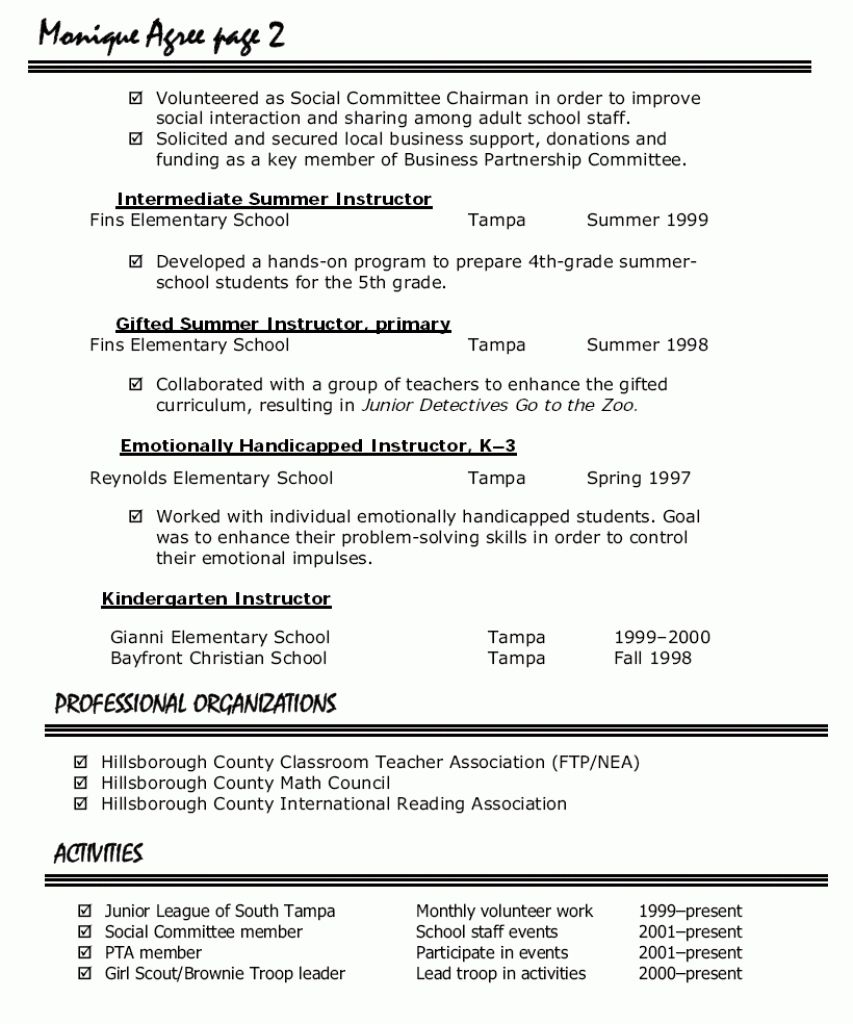 Preschool Teacher Resume Samples 2021 Preschool Teacher Resume Teacher Resume Examples Teacher Resume